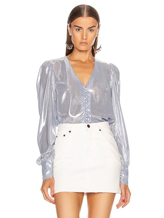 Cecilia Shirt in Ice Silver