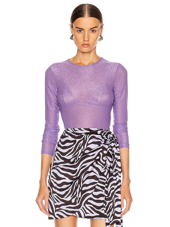 Coco Crop Top in Lilac Multi