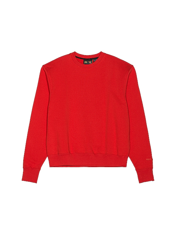 Basics Crewneck in Active Red