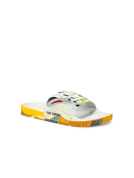 Torsion Adilette Slides in White & Multi