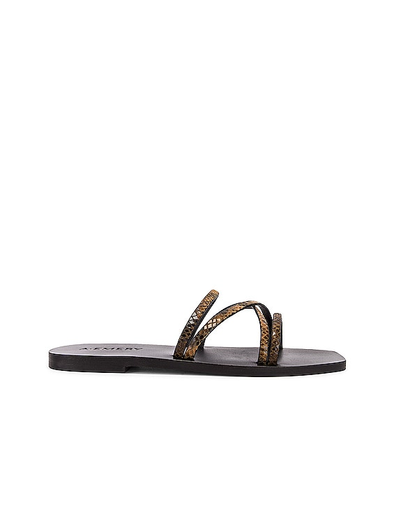 Riley Sandal in Caramel Snake
