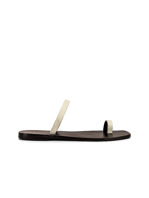 Kin Sandal in White Snake