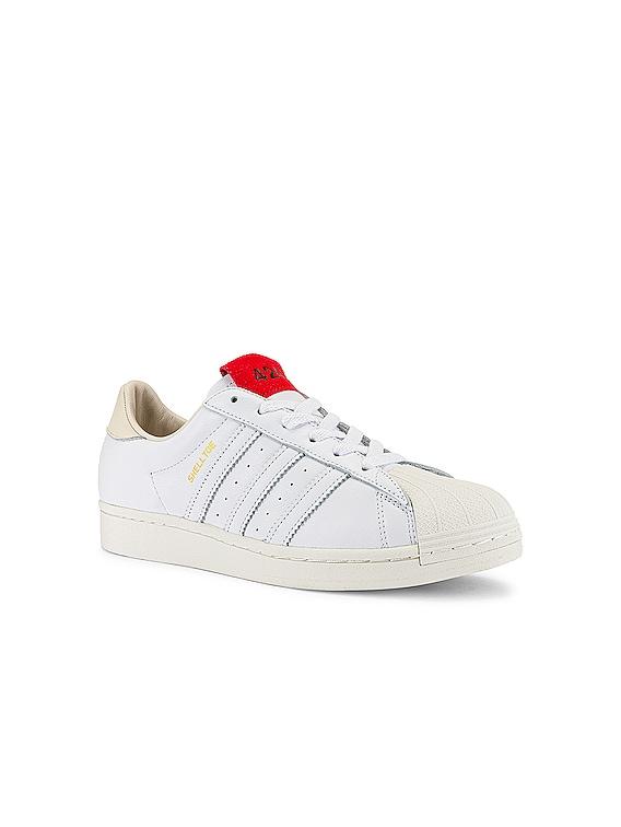 Shelltoe in White & Red