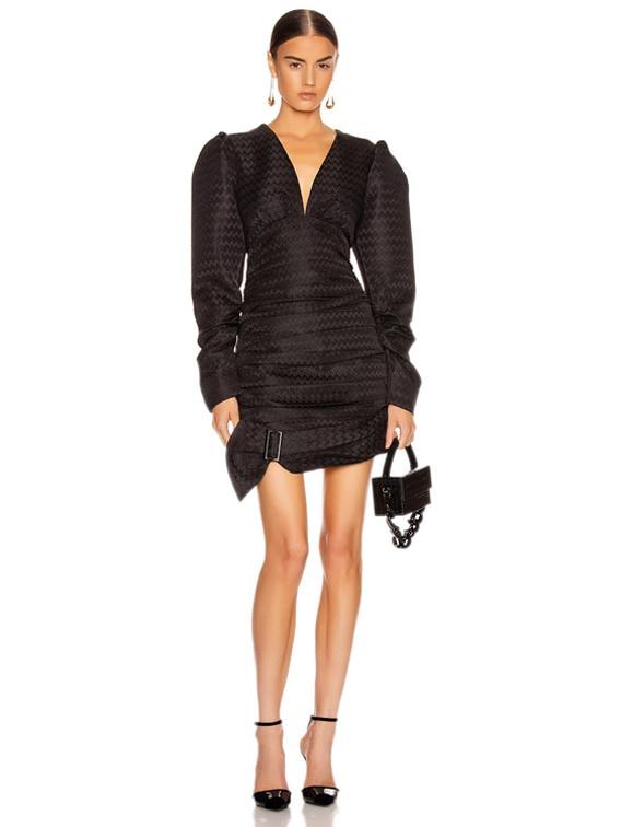 Was Loved Dress in Embossed Black