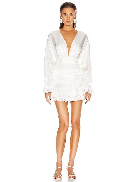 Beating Heart Dress in White
