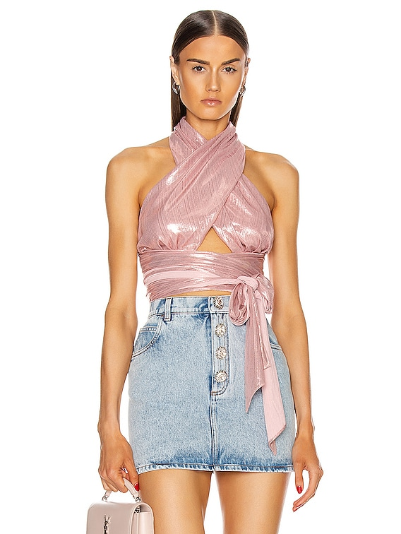 Give It All Crop Top in Blush