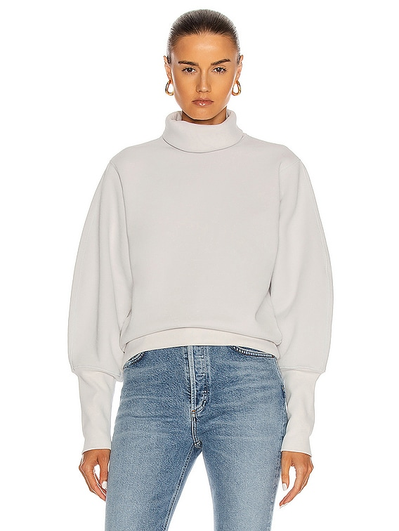 Extended Rib Sweatshirt in Paper Mache