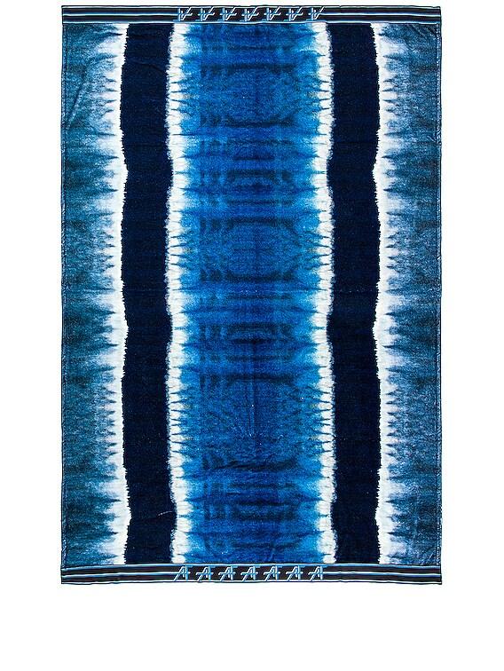 Beach Towel in Fantasy Print Blue