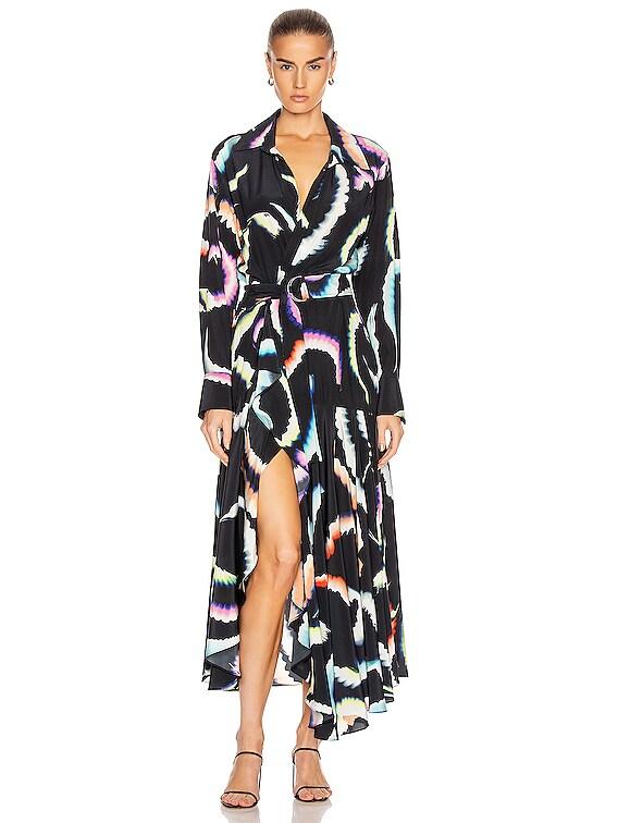 Amaya Dress in Midnight Multi