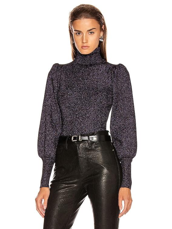 Karla Top in Black & Lavender