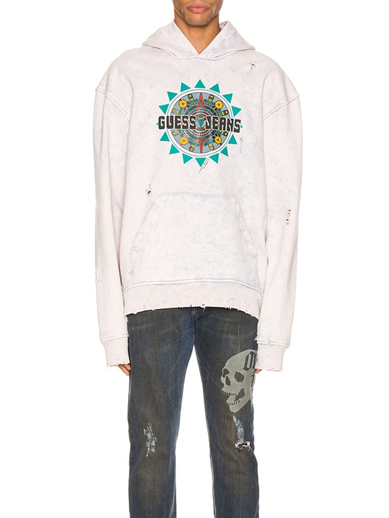x Guess Hoodie in Dirty Cream