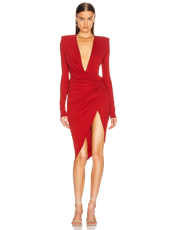 Jersey Midi Dress in Currant