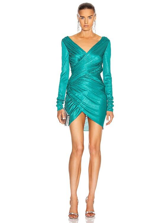 Ruched Mini Dress in Lagoon