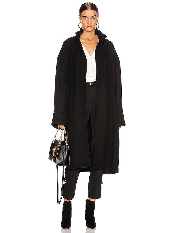 Melton Coat in Black
