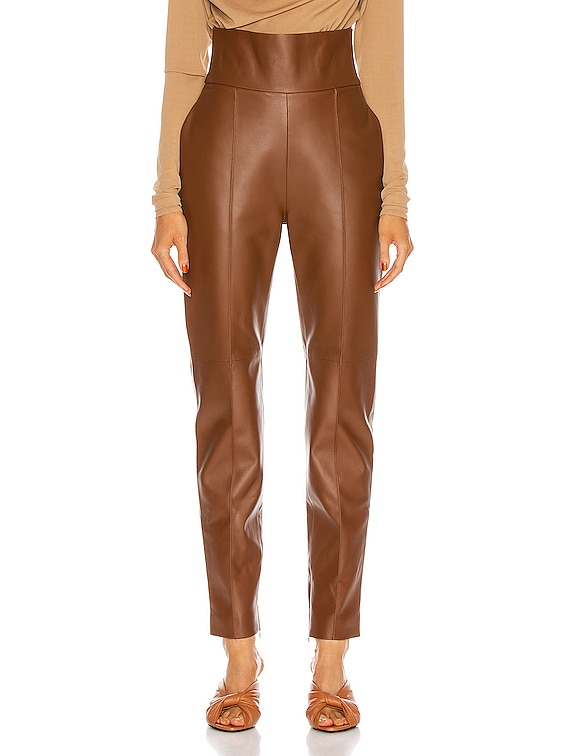 Leather Pant in Spice