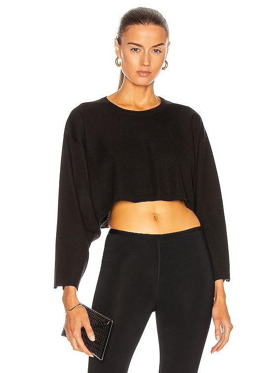 Cropped Sweater in Noir