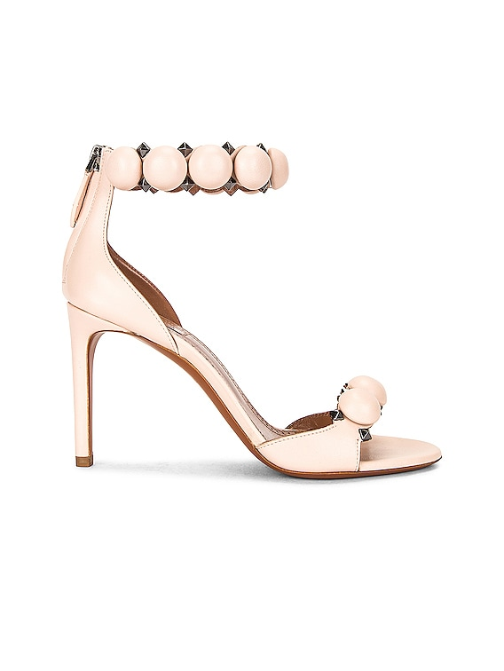 Leather Bombe Sandals in Galet