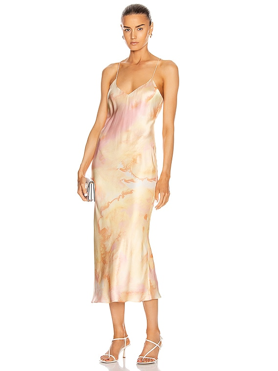 Lewis Dress in Melon Watercolor