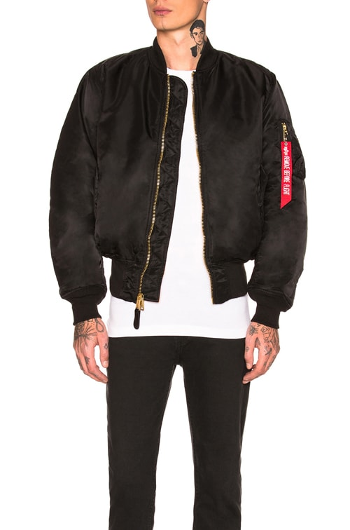 MA-1 Blood Chit Bomber in Black