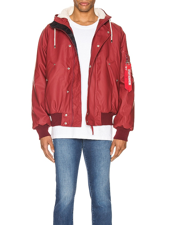 x Stutterheim N2-B Jacket in Commander Red