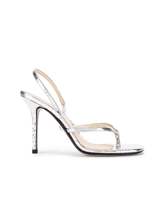 Ivy Sandal in Snake Silver