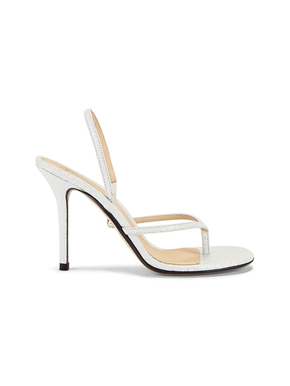 Ivy Sandal in Snake White