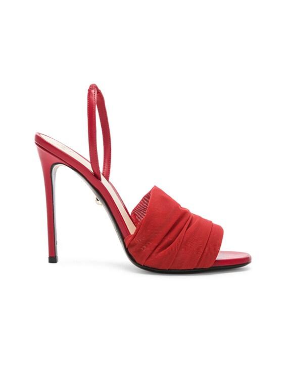 Alevi Olivia Sandal in Net Red
