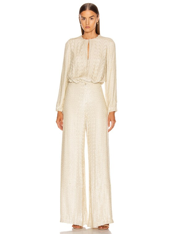 Ismet Jumpsuit in Ivory