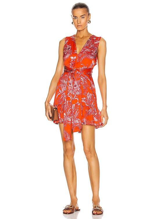 Cassara Dress in Mandarin Palm
