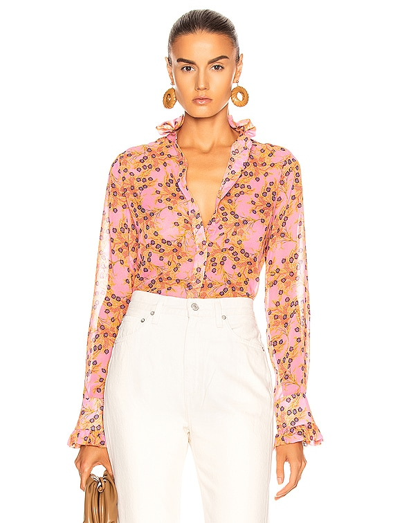 Indra Top in Rose Floral
