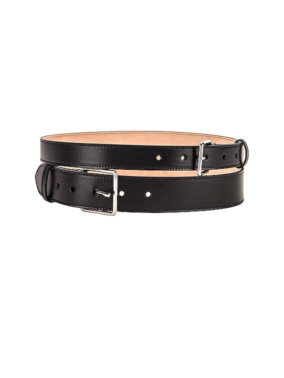 Double Long Belt in Black