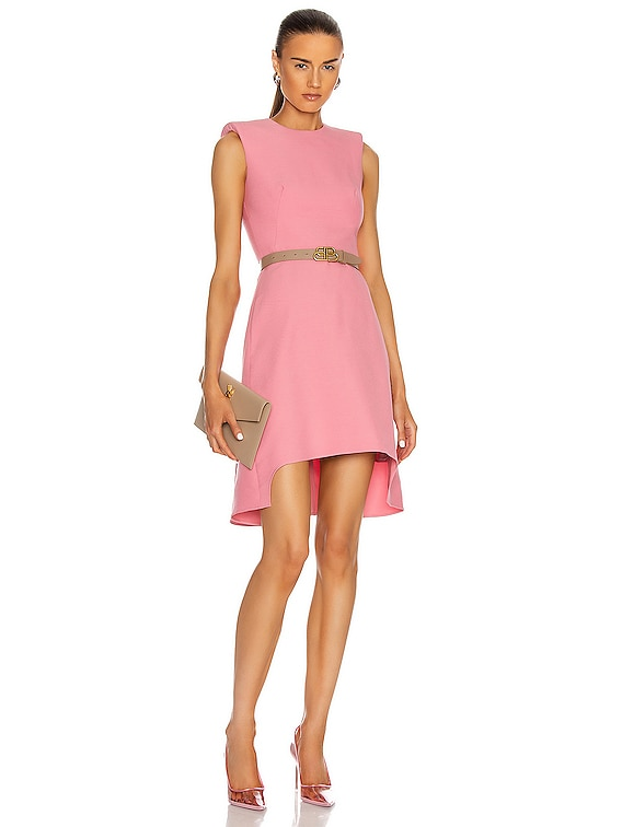 Sleeveless Mini Dress in Quilt Pink