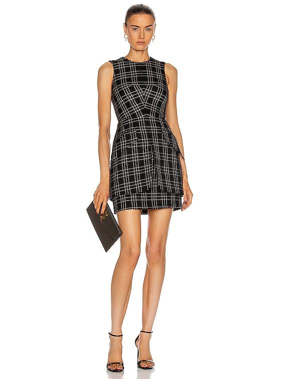 Sleeveless Mini Dress in Black & Ivory