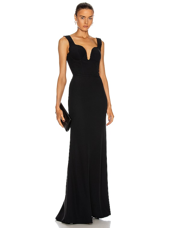 Sleeveless Gown in Black