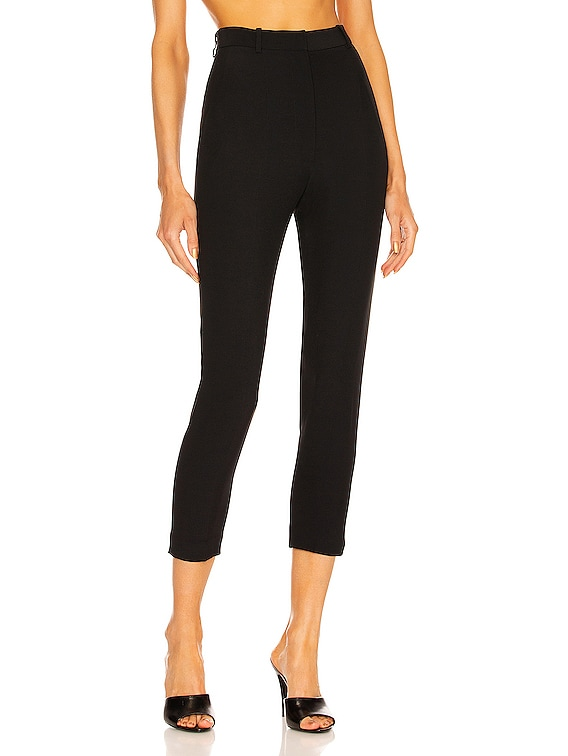 High Waisted Cigarette Pant in Black