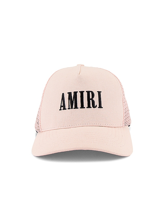 AMIRI Core Trucker Hat in Peach