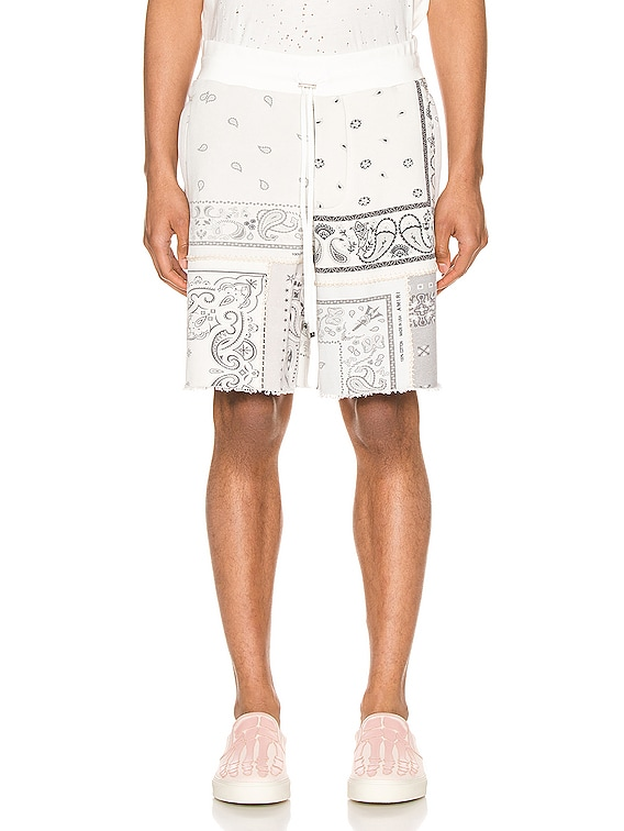 Bandana Reconstructed Shorts in Ivory
