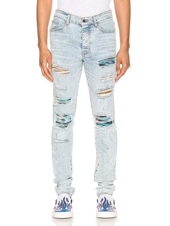 Tie Dye MX1 Jean in Sky Indigo