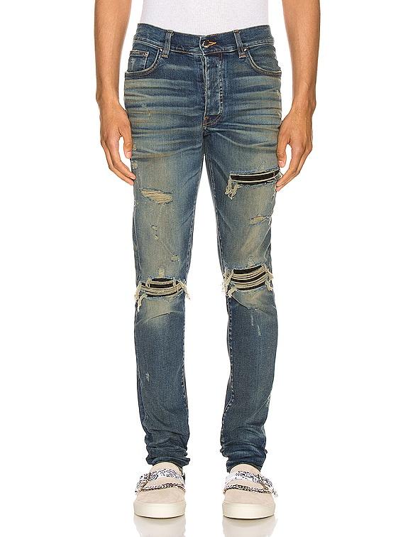 Suede MX1 Jean in Deep Indigo & Black
