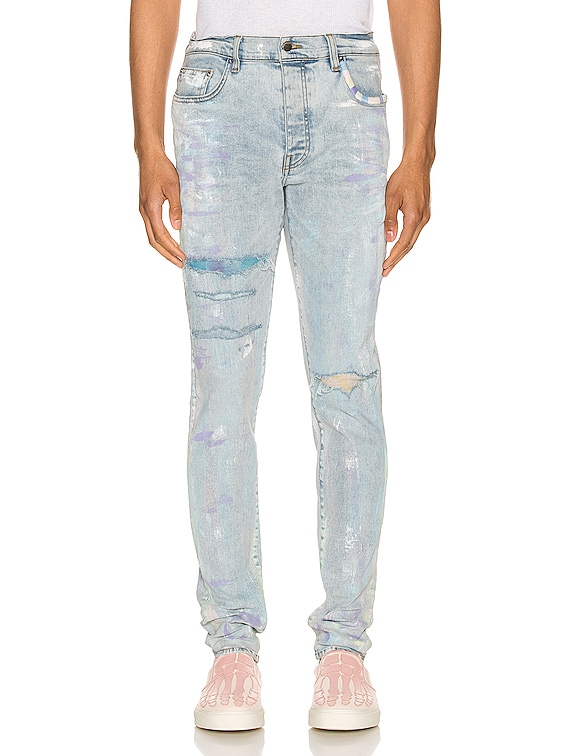 Painter Tie Dye Patch Jean in Sky Indigo