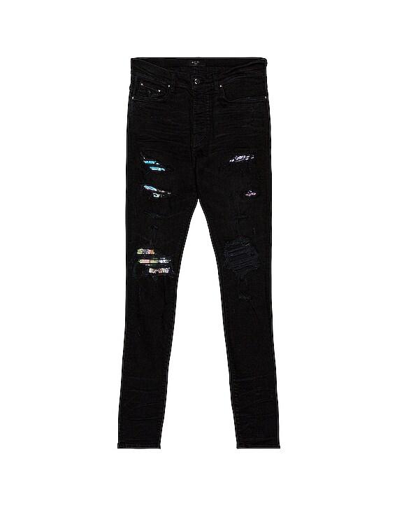 Hawaiian Patch Jean in Aged Black