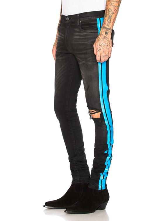 Broken Track Jean in Aged Black