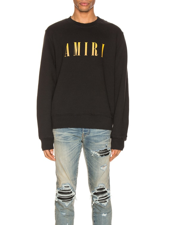 Core Crewneck in Black & Yellow