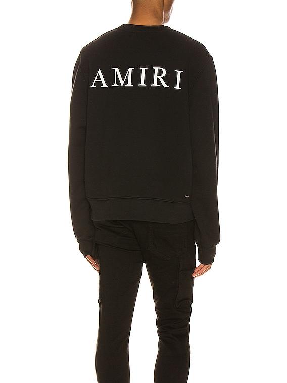 Large AMIRI Logo Crew in Black