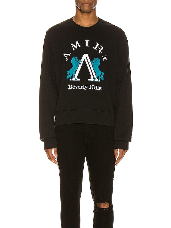 Beverly Hills AMIRI Crew in Black