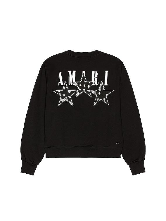 Bandana Stars Crewneck Sweatshirt in Black