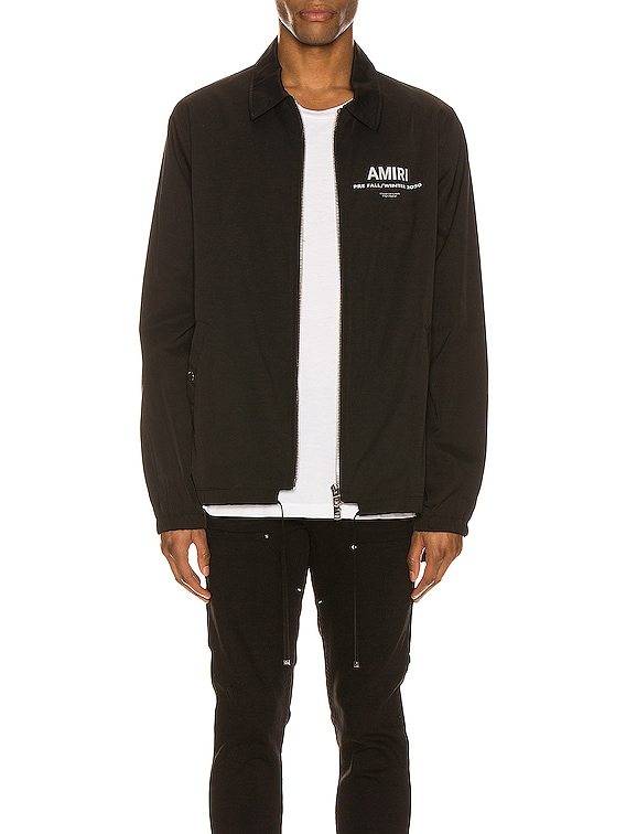 Pre FW20 AMIRI Coaches Jacket in Black