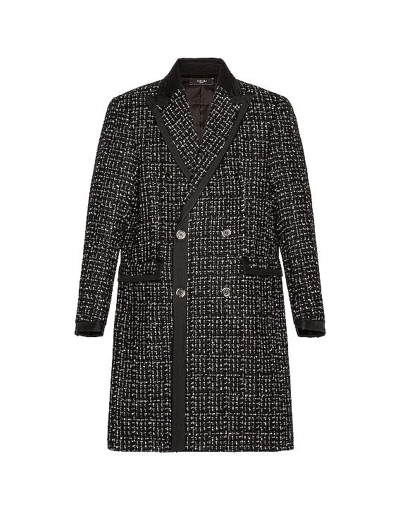 Boucle Long Coat in Black