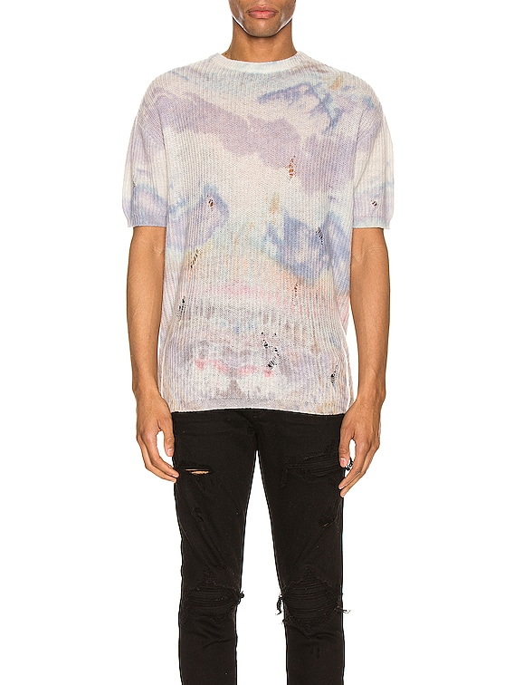 Tie Dye Knitted Tee in Multi-Color