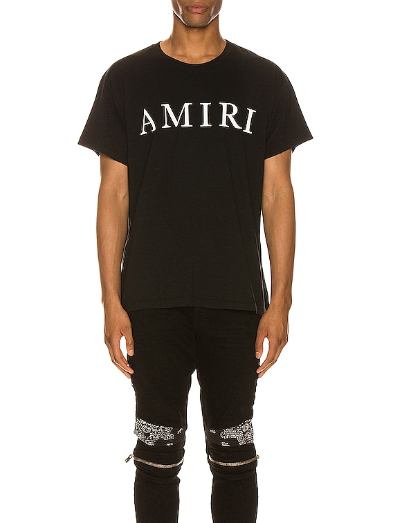Large AMIRI Logo Tee in Black